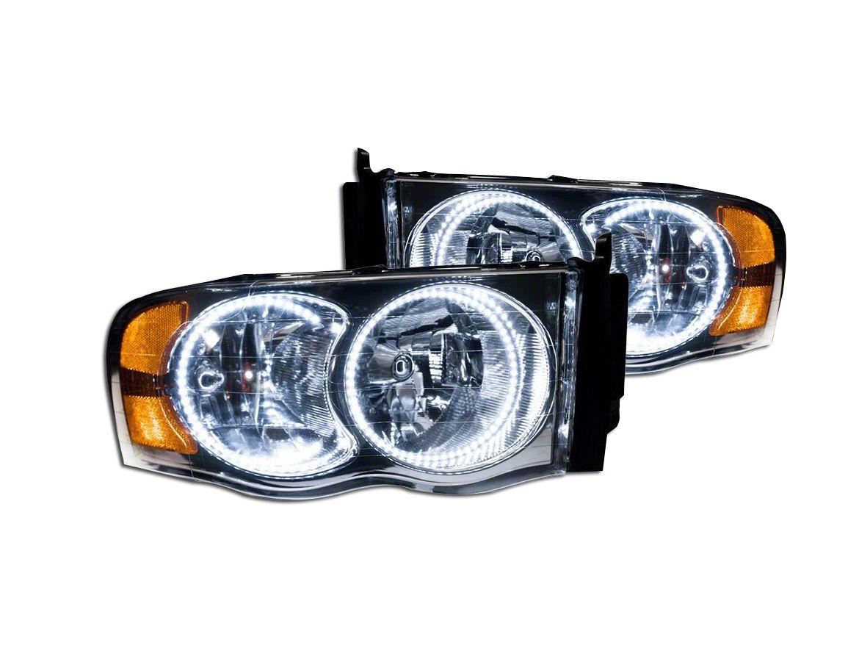 Chrome OE Style Headlights w/ SMD LED Halos (02-05 RAM 1500)