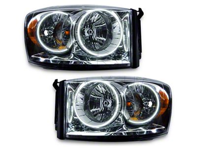 Oracle Chrome OE Style Headlights w/ SMD LED Halos (07-08 RAM 1500)