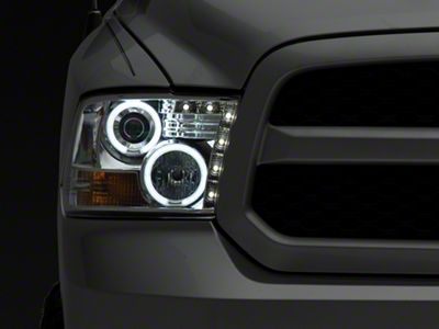 Axial Chrome Projector Headlights w/ CCFL Halos (09-18 RAM 1500 w/o Projector Headlights)
