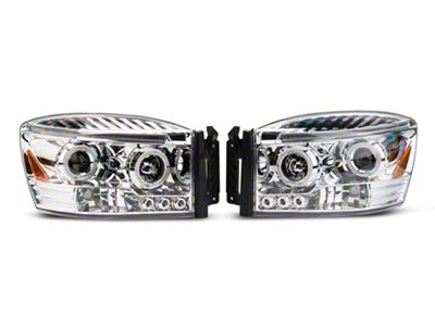 Axial Chrome Dual Halo Projector Headlights (06-08 RAM 1500)