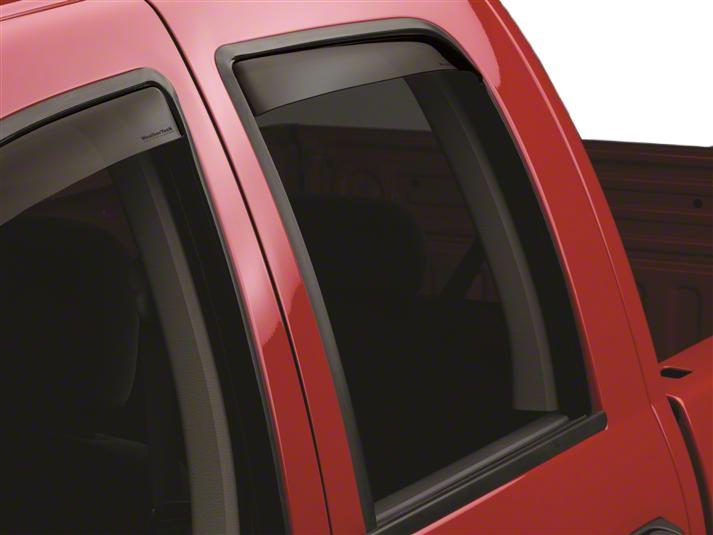 Weathertech Rear Side Window Deflectors - Dark Smoke (02-08 RAM 1500 Quad Cab, Mega Cab)