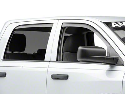 Weathertech Front & Rear Side Window Deflectors - Light Smoke (09-18 RAM 1500 Quad Cab, Crew Cab)