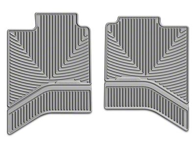 Weathertech All Weather Rear Floor Mats - Gray (02-18 RAM 1500 Quad Cab, Crew Cab)