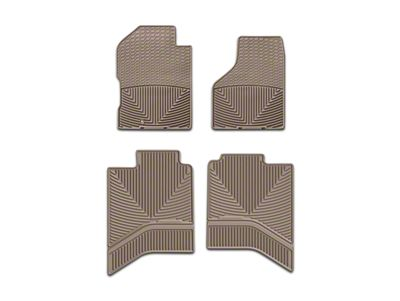 Weathertech All Weather Front & Rear Floor Mats - Tan (02-18 RAM 1500 Quad Cab, Crew Cab)
