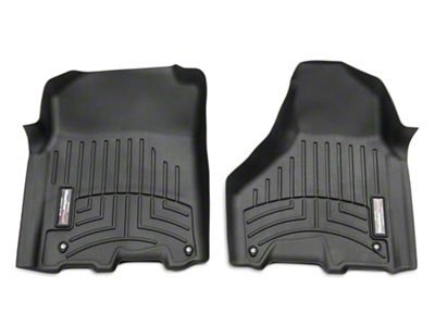 Weathertech DigitalFit Front & Rear Floor Liners - Black (09-18 RAM 1500 Quad Cab, Crew Cab)