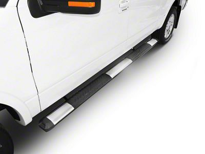 Steel Craft STX400 Aluminum Step Boards - Stainless Steel (02-08 RAM 1500 Quad Cab)