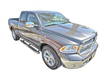 Steel Craft 4X Series 4 in. Oval Side Step Bars - T304 Stainless Steel (09-18 RAM 1500 Quad Cab, Crew Cab)