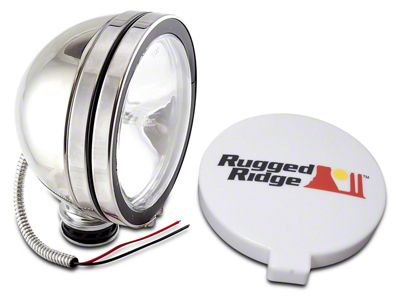Rugged Ridge 6 in. Halogen Fog Light - Stainless Steel - Single
