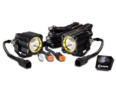 KC HiLiTES Flex Single LED Light - Spread Beam - Pair