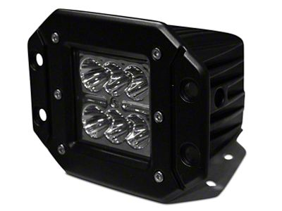 DV8 Off-Road 3 in. Chrome Series Flush Mount LED Cube Light - Spot Beam