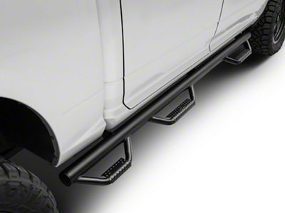N-Fab Wheel 2 Wheel Bed Access Nerf Side Step Bars - Textured Black (09-18 RAM 1500)