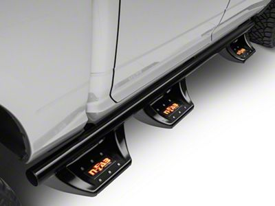 N-Fab Wheel 2 Wheel N-Durastep Bed Access Side Step Bars - Semi-Gloss Black (09-18 RAM 1500 Quad Cab, Crew Cab)