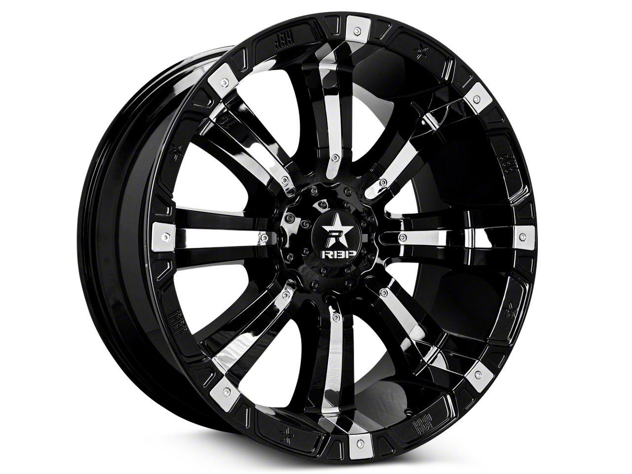 RBP 94R Black w/ Chrome Inserts 5-Lug Wheel - 20x10 (02-18 RAM 1500, Excluding Mega Cab)