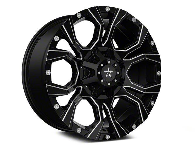 RBP 64R Widow Gloss Black w/ Machined Grooves 5-Lug Wheel - 18x9 (02-18 RAM 1500, Excluding Mega Cab)