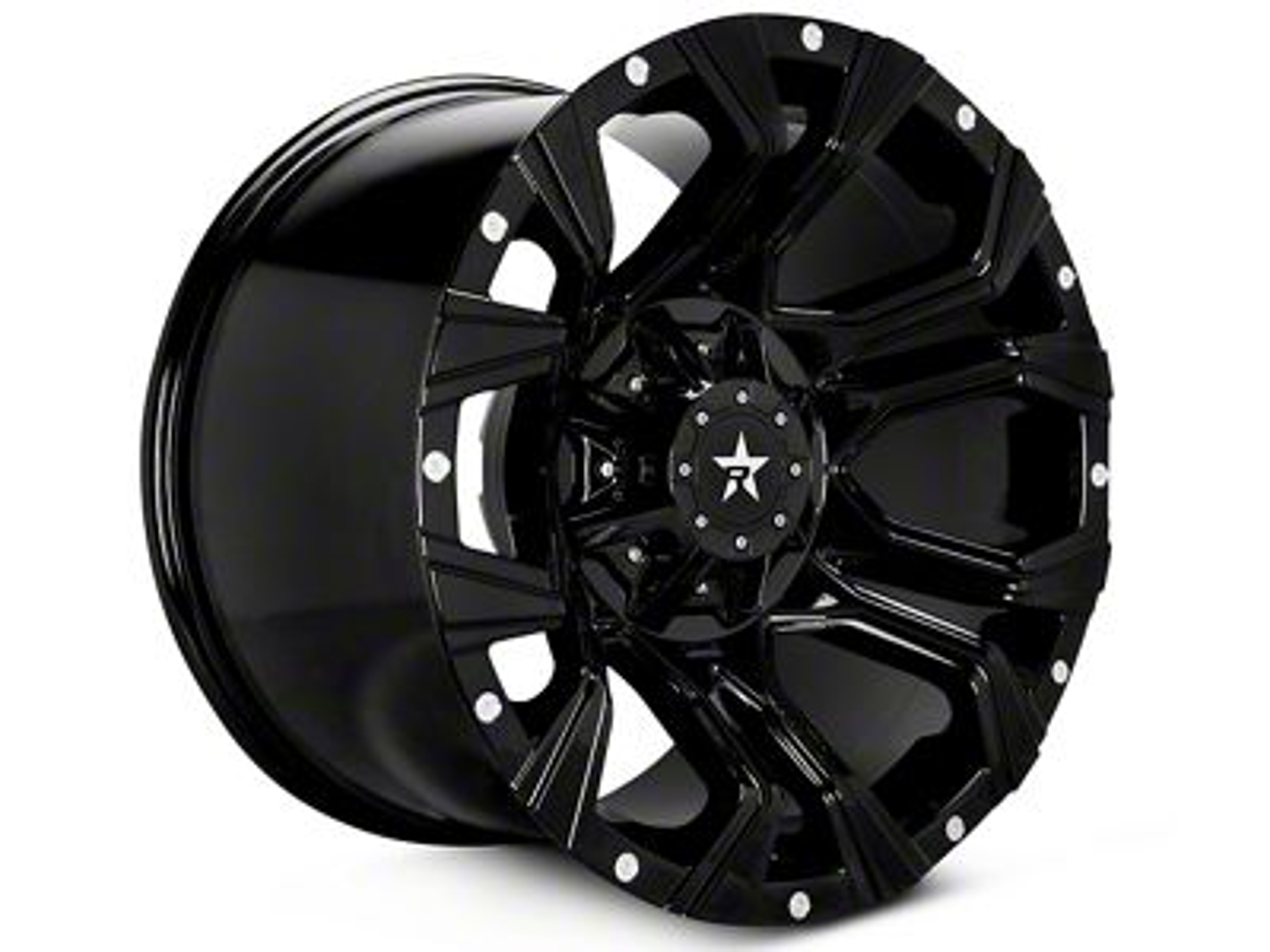 RBP 64R Widow Black Machined 5-Lug Wheel - 20x10 (02-18 RAM 1500, Excluding Mega Cab)