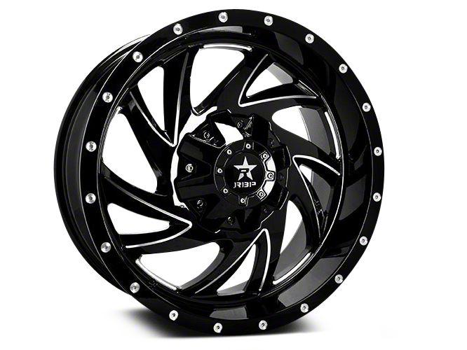 RBP 66R HK-5 Gloss Black w/ Machined Grooves 5-Lug Wheel - 20x9 (02-18 RAM 1500, Excluding Mega Cab)