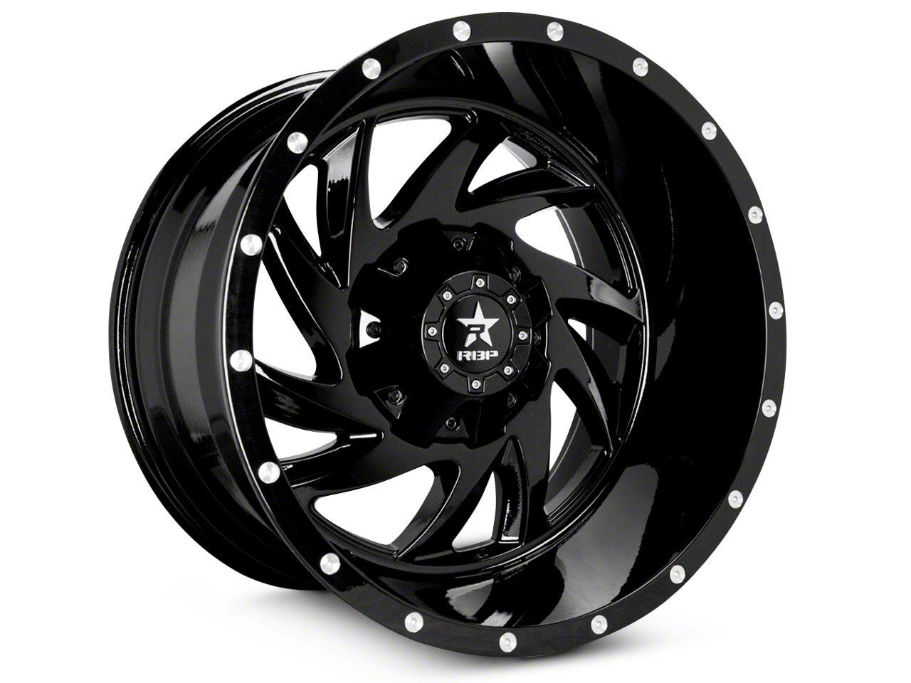 RBP 66R HK-5 Gloss Black 5-Lug Wheel - 20x9 (02-18 RAM 1500, Excluding Mega Cab)