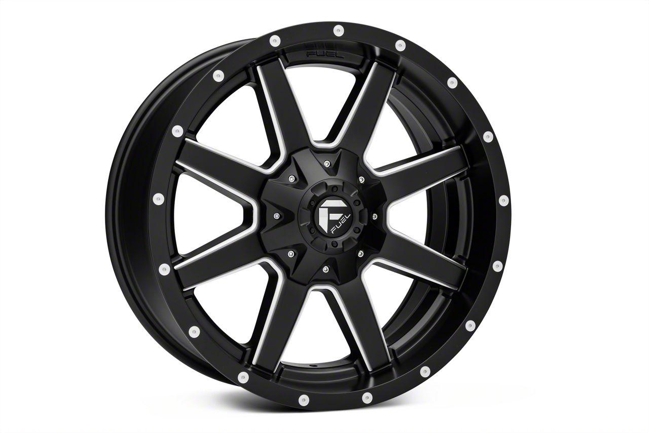 Fuel Wheels Maverick Black Milled 5-Lug Wheel - 22x10 (02-18 RAM 1500, Excluding Mega Cab)