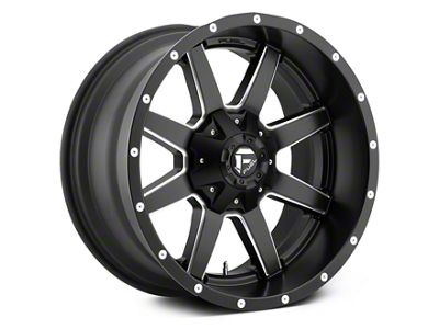 Fuel Wheels Maverick Black Milled 5-Lug Wheel - 22x9.5 (02-18 RAM 1500, Excluding Mega Cab)