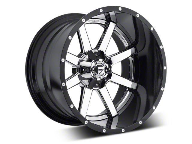 Fuel Wheels Maverick Chrome w/ Gloss Black Lip 5-Lug Wheel - 22x10 (02-18 RAM 1500, Excluding Mega Cab)