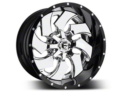 Fuel Wheels Cleaver Chrome w/ Gloss Black Lip 5-Lug Wheel - 22x10 (02-18 RAM 1500, Excluding Mega Cab)