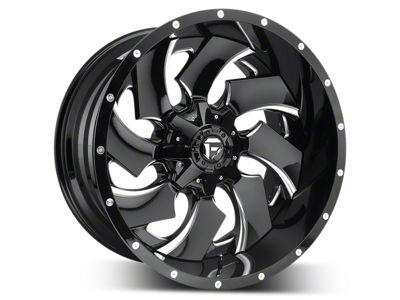 Fuel Wheels Cleaver Black Milled 5-Lug Wheel - 22x12 (02-18 RAM 1500, Excluding Mega Cab)