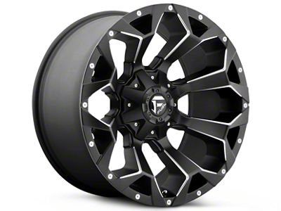 Fuel Wheels Assault Black Milled 5-Lug Wheel - 22x10 (02-18 RAM 1500, Excluding Mega Cab)