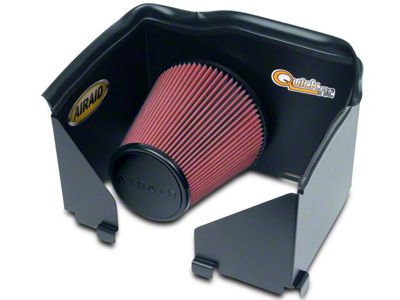 Airaid QuickFit Air Dam w/ Red SynthaMax Dry Filter (02-05 3.7L RAM 1500)