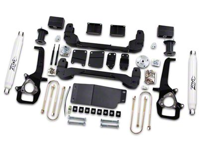 Zone Offroad 6 in. Suspension Lift Kit w/ Shocks (06-08 4WD RAM 1500, Excluding Mega Cab)