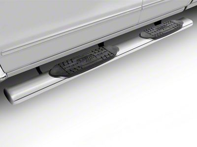 Raptor Series 6 in. Magnum Straight Oval Side Step Bars - Polished Stainless (09-18 RAM 1500 Quad Cab, Crew Cab)
