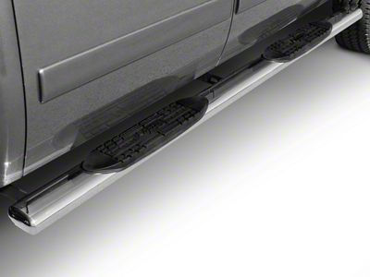 Raptor Series 6 in. Magnum Straight Oval Side Step Bars - Black (09-18 RAM 1500 Quad Cab, Crew Cab)