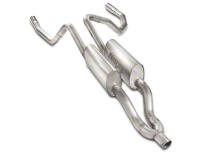 Stainless Works 3 in. S-Tube Turbo Dual Exhaust System - Rear Exit - Factory Connect (09-18 5.7L RAM 1500)
