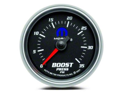 Mopar Boost Gauge - Mechanical - Black (02-19 RAM 1500)