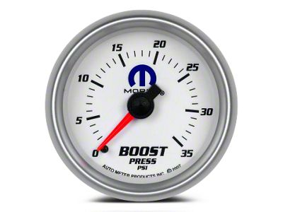 Mopar Boost Gauge - Mechanical - White (02-19 RAM 1500)