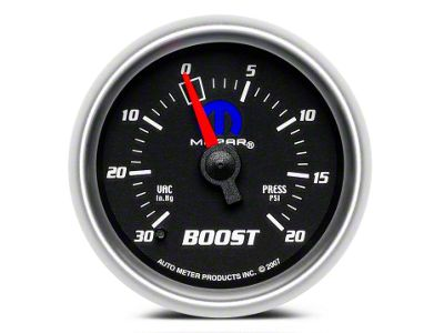 Mopar Boost/Vacuum Gauge - Mechanical - Black (02-19 RAM 1500)