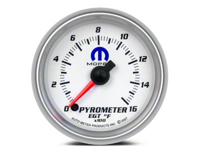 Mopar Pyrometer Gauge - Digital Stepper Motor - White (02-19 RAM 1500)