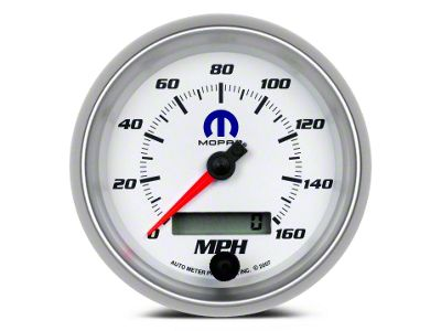 Mopar 3-3/8 in. Speedometer - Electrical - White (02-19 RAM 1500)