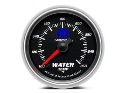 Mopar Water Temperature Gauge - Digital Stepper Motor - Black (02-19 RAM 1500)