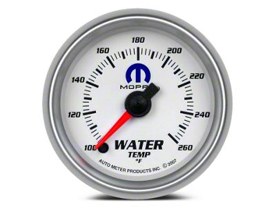 Mopar Water Temperature Gauge - Digital Stepper Motor - White (02-19 RAM 1500)