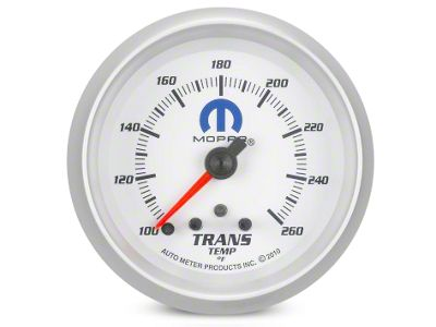 Mopar Transmission Temp Gauge - Digital Stepper Motor - White (02-19 RAM 1500)