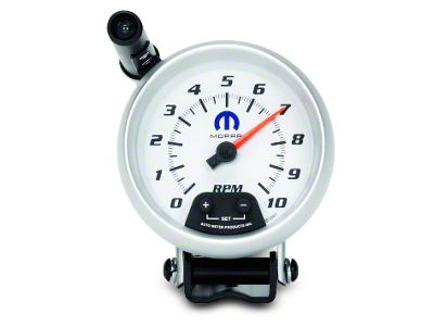 Mopar 3-3/4 in. Pedestal Tachometer w/ Shift Light - White (02-19 RAM 1500)