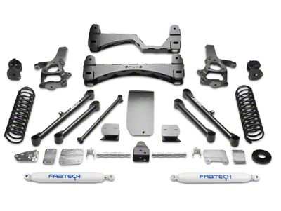 Fabtech 6 in. Basic Lift System w/ Shocks (13-18 4WD RAM 1500 w/o Air Ride Suspension)
