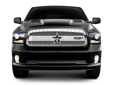 RBP RX-3 Series Studded Frame Upper Grille Insert - Chrome (13-18 RAM 1500, Excluding Rebel)