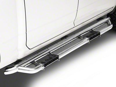 RBP RX-3 Cab Length Side Step Bars - Stainless Steel (09-18 RAM 1500 Quad Cab, Crew Cab)
