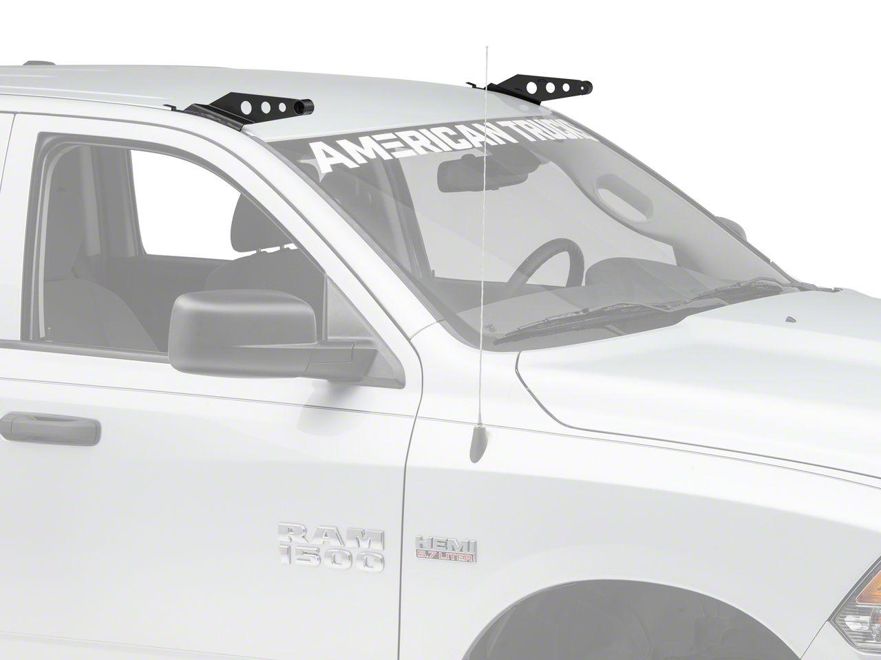 Raxiom 50 in. Curved LED Light Bar Windshield Mounting Brackets (09-15 RAM 1500)