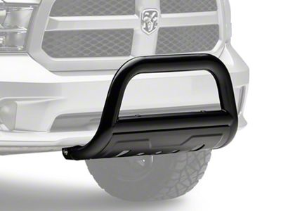 Barricade 3.5 in. Oval Bull Bar w /Formed Skid Plate - Black (09-18 RAM 1500, Excluding Rebel)