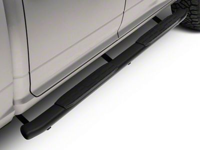 Barricade Pinnacle 4 in. Oval Bent End Side Step Bars - Textured Black (09-18 RAM 1500 Quad Cab, Crew Cab)