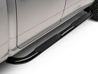Barricade 4 in. Oval Bend Side Step Bars - Black (09-18 RAM 1500)