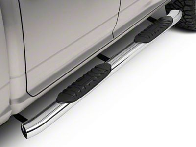 Barricade 5 in. Oval Bend Side Step Bars - Stainless Steel (09-18 RAM 1500 Quad Cab, Crew Cab)