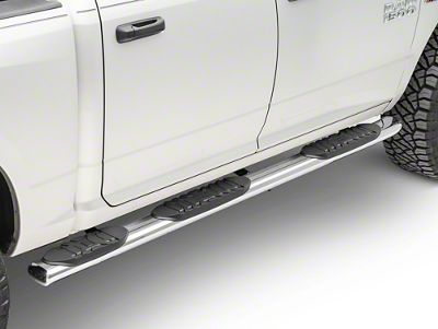 Black Horse Off Road 5 in. Extreme Wheel to Wheel Side Step Bars - Stainless Steel (09-18 RAM 1500 Crew Cab w/ 5.7 ft. Box)